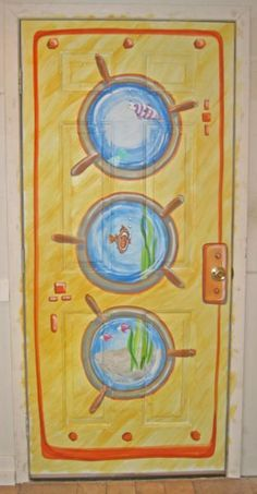 fun submarine door Under The Sea Theme, Under The Sea Party, Submerged Vbs, Bible School Crafts, Vbs 2016, Vbs Crafts, Vacation Bible School, Ocean Themes, Nautical Theme