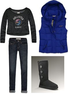 """hollister winter"" by teahmm on Polyvore"