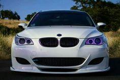 BMW E60 M5 white front stance
