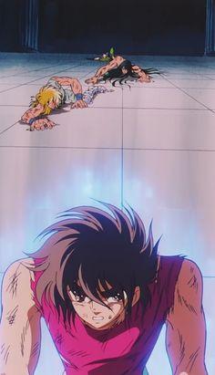 Seiya, Hyoga, Shiryu e Shina enfrentam Poseidon