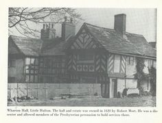 Wharton Hall, Little Hulton Salford, Old Photos, 1970s, Roots, Nostalgia, Cabin, History, House Styles, Old Pictures