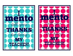 "Detail-Oriented Diva!: I ""Mento"" Tell You Thanks!"