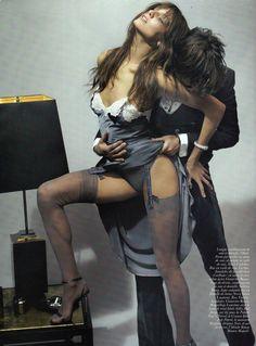 La Décadanse [The Decadance] Models: Daria Werbowy & Francesco Vezzoli Photographer: Mario Testino Stylist : Carine Roitfeld