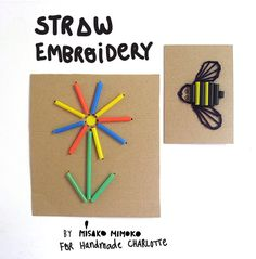 DIY Straw Embroidery
