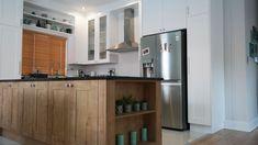Modern Kitchen Design, Modern Design, Kitchen Cabinets, Table, Furniture, Home Decor, Restaining Kitchen Cabinets, Homemade Home Decor, Contemporary Design