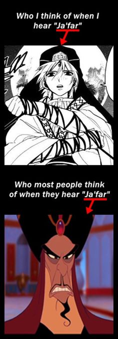 Magi's Jafar is just a little more... ummm... awesome.... Anime pwns