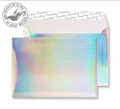 Wallet Peel and Seal Shimmering Rainbow