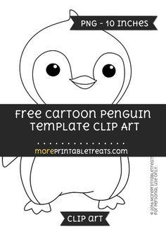 Free Cartoon Penguin Template - Clipart