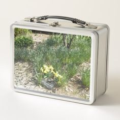 Yellow Daffodils Metal Lunch Box - kitchen gifts diy ideas decor special unique individual customized
