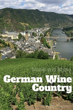Learn about German wine and how to visit the popular Rhine and Mosel River regions. Ourtastytravels.com (sponsored)