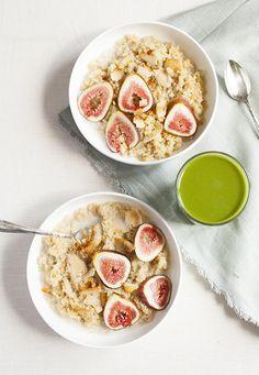 Maple Vanilla Quinoa Porridge with Fresh Figs | Choosing Raw | Bloglovin'