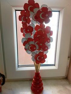 cumhuriyet bayramı için öğrencilerimin çaşlışması Cumhuriyet çiçekleri S Aykut