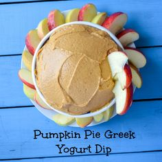 Greek Yogurt Pumpkin Pie Spice Fruit Dip Could be made paleo with another yogurt type!