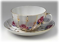 Antique Roses Tea Cup & Saucer