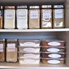 Easy kitchen organizing ideas from the Dollar Store! Now I have some cheap organization ideas for the home to declutter my kitchen! Kitchen Organization Pantry, Kitchen Pantry, Diy Kitchen, Kitchen Storage, Food Storage, Storage Organization, Organized Kitchen, Storage Ideas, Pantry Storage