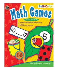 Look at this Learning Train Grades Pre-K-K Math Games Workbook on today! Number Games, Math Games, Maths, Kindergarten Curriculum, Teacher Created Resources, Color Games, Math Numbers, Math Concepts, Math Skills