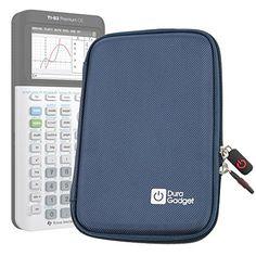 Coque de rangement bleue rigide pour Texas Instruments TI-83 Premium, TI 82 Advanced et TI-NSPIRE CX calculatrices scientifiques –…
