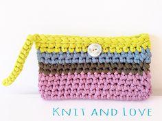 Tutorial Crochet hand bag www.knitandlove.com