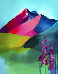 Art print Mountain print Wall art mountain art mountain