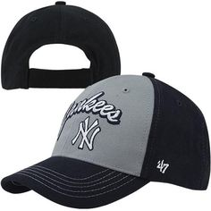 '47 Brand New York Yankees Toddler Bruiser Adjustable Hat - Navy Blue/Gray
