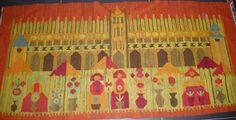 Sukiennice (Hall) by Domańska - Polish vintage handwoven '70 kilim