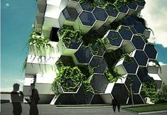 The London Tower Farm Aims to Feed its Inhabitants #honeycomb #design trendhunter.com