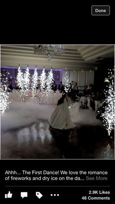 Dry ice fire works love this for our dance. Wedding Set Up, My Perfect Wedding, Wedding 2017, Dream Wedding, Wedding Ideas, Peacock Wedding, Wedding Flowers, Enchanted Forest Prom, Wedding Fireworks