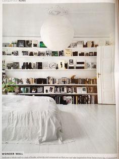 Bedroom shelving.