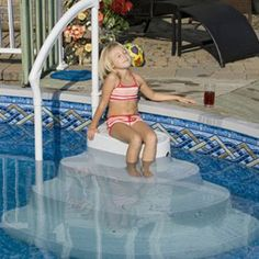 Blue Wave Pool Majestic 8000 Step - wedding cake steps for above ground pools (Side Step House) Winterize Above Ground Pool, Above Ground Pool Steps, Above Ground Pool Landscaping, Backyard Pool Landscaping, Above Ground Swimming Pools, In Ground Pools, Landscaping Ideas, Wave Pool, My Pool