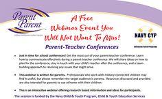 Parent-Teacher Conferences - A Free Webinar!