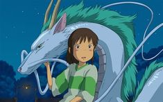 Where can you watch Hayao Miyazaki's films like Spirited Away, Princess Mononoke, My Neighbor Totoro, and Castle in the Sky? In a major deal with Ghibli, it'll be HBO's new streaming service. Art Studio Ghibli, Studio Ghibli Films, Hayao Miyazaki, Spirited Away Anime, Studio Ghibli Spirited Away, Haku Spirited Away Dragon, Film Anime, Manga Anime, Spirited Away Wallpaper