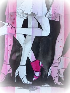 Runway Print from Original Watercolor Painting by LanasArt
