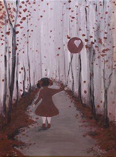The balloon of a cheerful heart