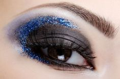black and blue glitter color combo. actually works.