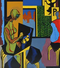ERIK ENROTH, CAFÉ COLOMBIA (1971)  The year 2017 marks the centenary of Finland's independency as well as 100th anniversary of artist Erik Enroth (1917–1975). Three paintings by Enroth have been included in the Gösta Serlachius Fine Arts Foundation's collection: Still-life with Chicken and Fish (1953), A Fruit Market in Spain (1955) and Cafe Colombia, which represents the artist's late output.  Born in Helsinki, Enroth relocated to Tampere after having been married to Sara Hildén in 1949. Helsinki, Finland, Foundation, Spain, Anniversary, Paintings, Fish, Fine Art, Chicken