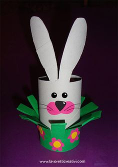 Toilet paper roll animal craft idea for kids Easter Projects, Easter Crafts For Kids, Toddler Crafts, Classroom Crafts, Preschool Crafts, Circus Crafts, Diy Ostern, Toilet Paper Roll Crafts, Bunny Crafts
