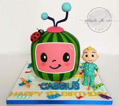 Baby Boy Cakes, Cakes For Boys, 2nd Birthday Party For Girl, Birthday Ideas, Birthday Cake, Melon Cake, Chor, Birthday Decorations, First Birthdays