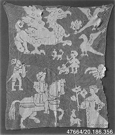 Fragment  Date: 16th century  Culture: Italian  Dimensions: L. 28 x W. 22 inches 71.1 x 55.9 cm  Classification: Textiles-Laces-Network  Accession Number: 20.186.356