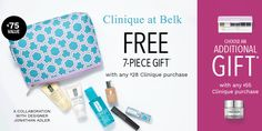 Belk Bonus Time has started. Get yours with any $28 Clinique purchase online or instore at Belk. http://clinique-bonus.com/belk/