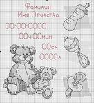 Мобильный LiveInternet Детские метрики (вышивка крестом, схемы) | Lyrdi - Житейские заметки и просто интересные вещи от Lyrdi |