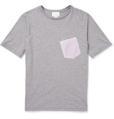 Band of Outsiders Contrast-Pocket Cotton-Jersey T-Shirt | MR PORTER