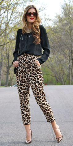 The Best Street Style Inspiration & More Details That Make the Difference Leopard Print Outfits, Animal Print Outfits, Animal Print Fashion, Fashion Prints, Love Fashion, Leopard Pants, Animal Prints, Mode Outfits, Chic Outfits