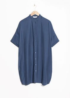 & Other Stories image 2 of Oversized Shirt Dress in Blue