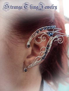 Elven ear cuffs Book of days by StrangeThingJewelry on Etsy, $34.00