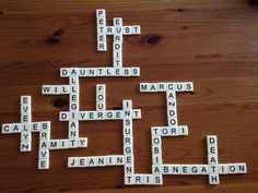Divergent Banana Grams Puzzle ~Sarah