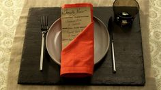 A seriously simple napkin fold for your holiday table