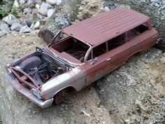 62 Chevy Wagon weathered and rusty