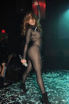 Black Mesh Catsuit worn By J Lo. Buy your Catsuit for dance from DCUK Dance Clothes.