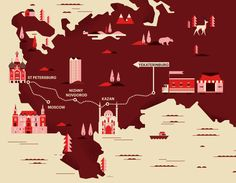 *Wallpaper Magazine Map of Russia Art Director: Sarah Douglas