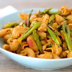 Roasted Garlic and Asparagus Pasta.